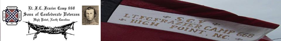 Lt. F.C. Frazier Camp #668 SCV